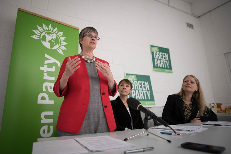 Molly Scott-Cato, Green MEP for the South West, with Caroline Lucas and Sian Berry