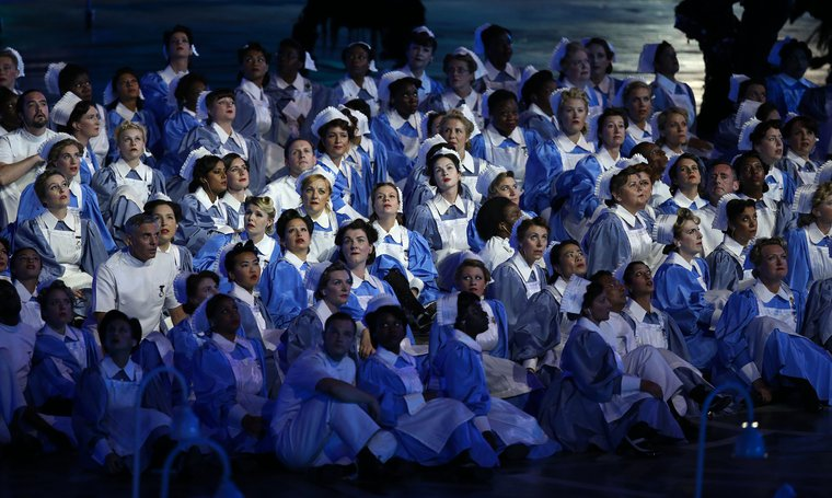 The London Olympic opening ceremony showcased the NHS to the world.