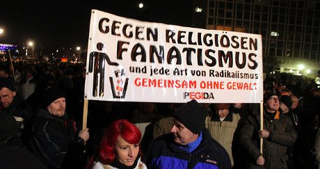 Pegida anti-Muslim rally