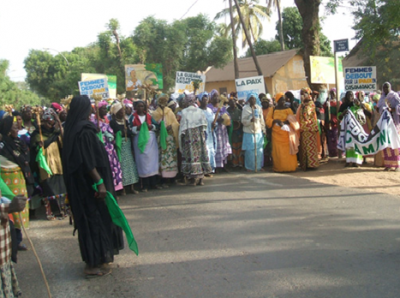Women's march in Ziguinchor, 2012