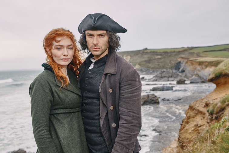 Poldark and Demelza from the BBC TV show