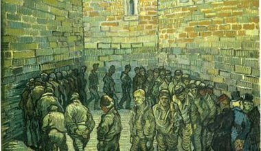Prisoners exercising, 1890, by Vincent Van Gogh