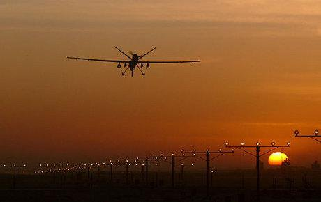 Drone arriving at Kabul airport