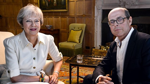 BBC presenter Nick Robinson interviewing Theresa May