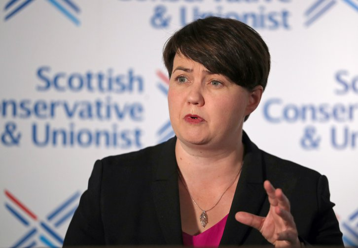 Ruth Davidson announcing her resignation as leader of the Scottish Conservatives, 29th August 2019