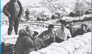 Ariel Sharon, Haim Bar-Lev and David Ben Gurion on the Bar-Lev Line