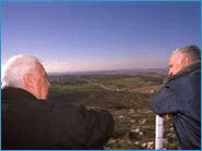 Ariel Sharon and Benjamin Netanyahu on the West Bank