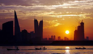 Bahrain skyline at sunset. Shutterstock/Ajay Kumar Singh. All rights resereved.