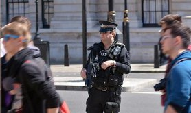 Counter terror police on duty London May 2015