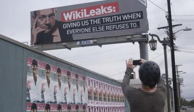 Wikileaks billboard.
