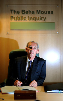 Sir William Gage, chairman of the Baha Mousa inquiry. Anthony Devlin PA Archive/PA Images. All rights reserved.