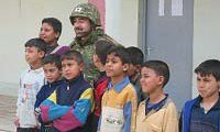 Japanese soldier with Iraqi children