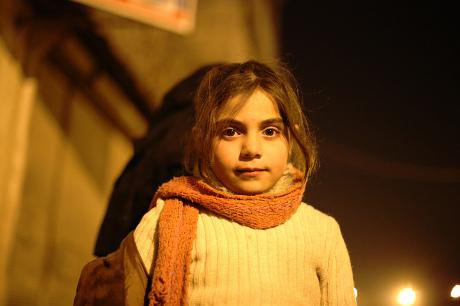 Syrian refugee girl in Turkey