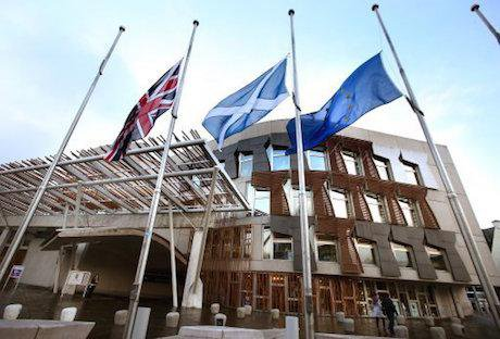 A Union flag, a Saltire, and an EU flag. Andrew Milligan / PA Wire/Press Association Images