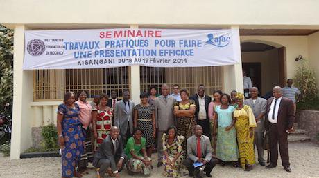WFD organised a training workshop for women in Province Oriental, DRC. Westminster Foundation.