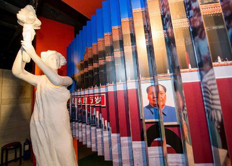 Democracy goddess in new Tiananmen Square museum in Hong Kong