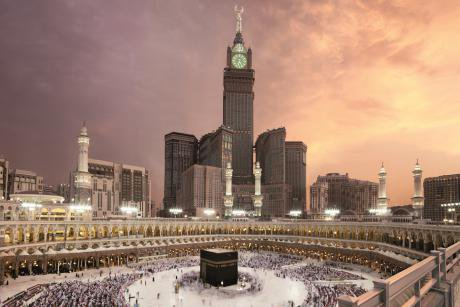 Makkah today. Courtesy of Makkah Clock Royal Tower, a Fairmont Hotel.