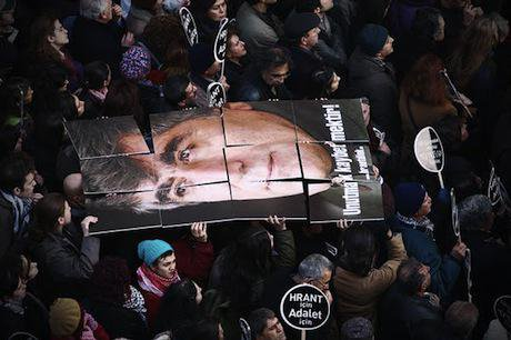 Hrant Dink..Adalet ( justice!)  8 years on, the government has failed to bring those responsible to justice. Demotix/J Kojak.