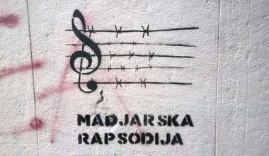Graffiti from Serbia or possibly Croatia