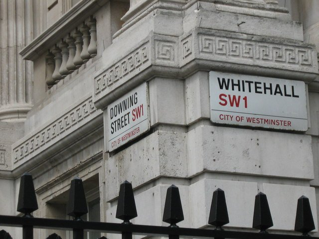 Whitehall and Downing Street street signs