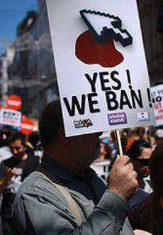 Protester against internet censorship in Turkey